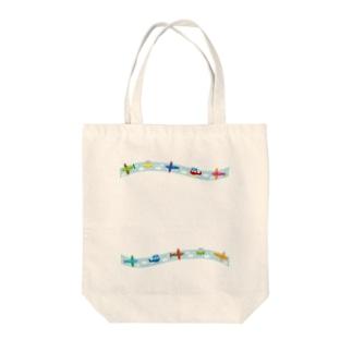 PLANE Tote bags
