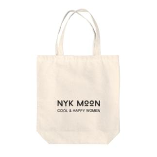 NYK MOON logo Tote bags