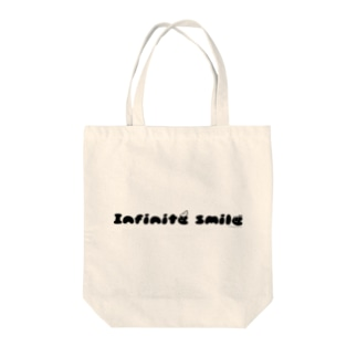 infinite smile(ねじり:黒) Tote bags