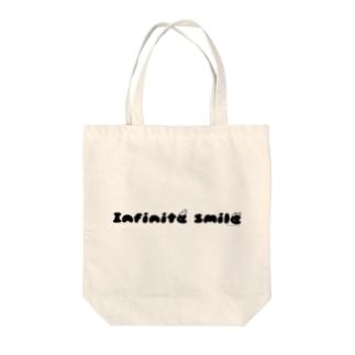 無限の笑顔(黒) Tote bags
