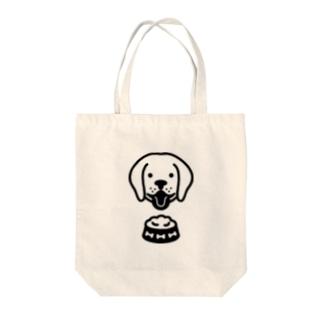 Dog food Tote bags