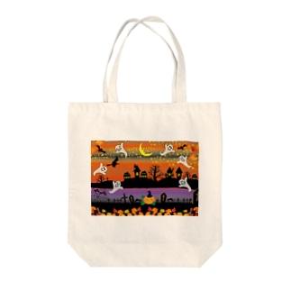クレコちゃんのハロウィンナイトでお化けがフィーバー Tote bags