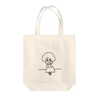 かなしむハルコさん Tote bags