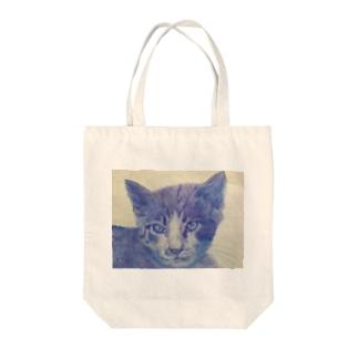 渋色猫 Tote bags