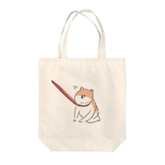 散歩イヤイヤワンちゃん Tote bags