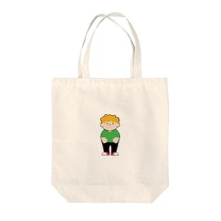 yellow hair BOY Tote bags