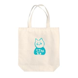 麻呂眉川さん「STAR」 Tote bags