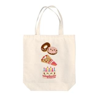 スイーツタイム-ドーナッツ・クレープ・誕生日ケーキ-sweets time-スイーツタイム- Tote bags