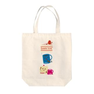 スイーツタイム-ショートケーキ・コーヒー・シュガー&ミルク-sweets time-スイーツタイム- Tote bags