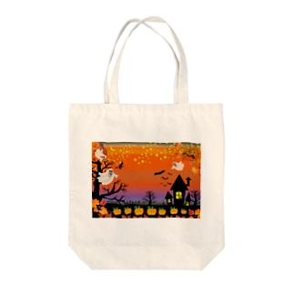スプーキーハロウィンナイトはこれだ! Tote bags