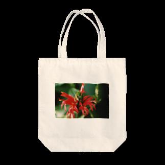 Dreamscapeのレッドフラワー Tote bags