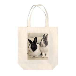 癒しウサmimi Tote bags