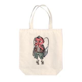 鼻ほじ天狗 Tote bags