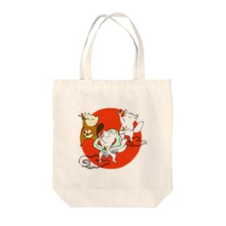オタゲー妖狐 Tote bags