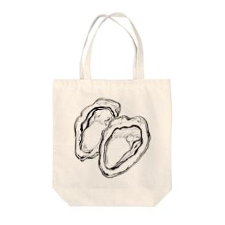 オイスター Tote bags