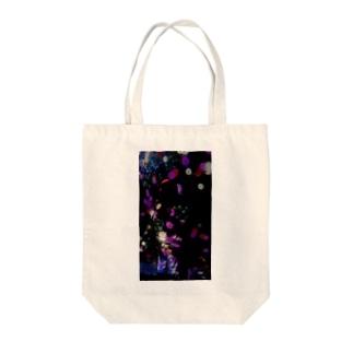 花マッピング Tote bags
