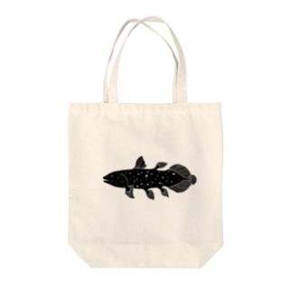 ほほえみシーラカンス Tote bags