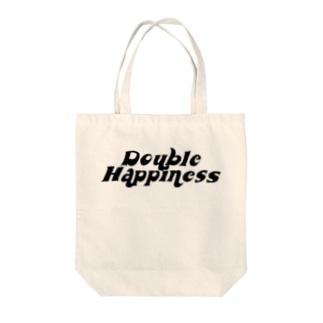 バブリーハピネス 黒 Tote bags