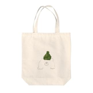 緑色帽子の北国クマさん トートバッグ