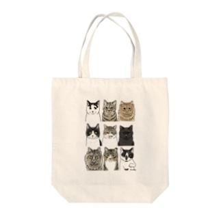 河原の野良猫たち1 Tote bags