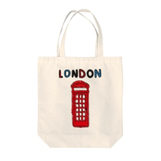 ロンドン電話ボックス Tote bags