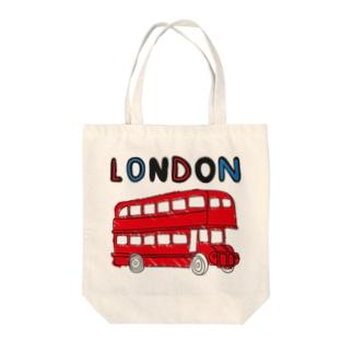 ロンドンバス Tote bags