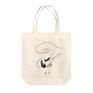 テレキャスター少女 Tote bags
