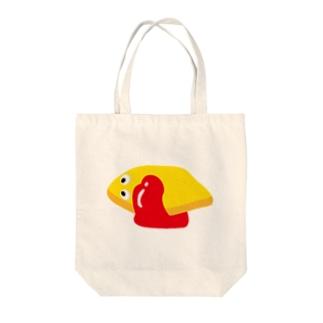 おむれつくん Tote bags