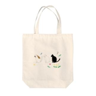 猫ごっこ-? Tote bags