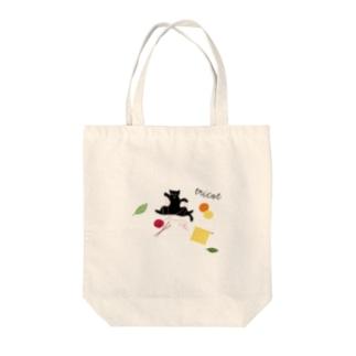 猫ごっこ-毛糸 Tote bags
