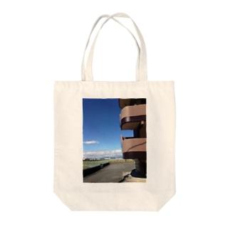 晩秋の青空 Tote bags