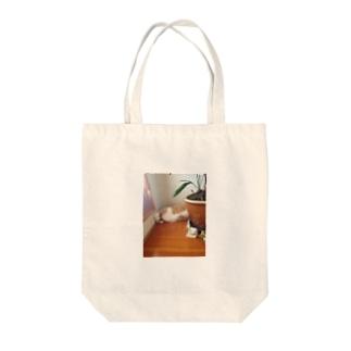 にゃんの足 Tote bags
