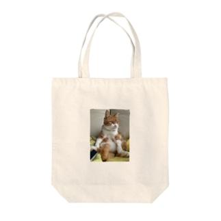 にゃん全容 Tote bags