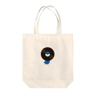 レコードリ月夜 -Right Walk Tote bags