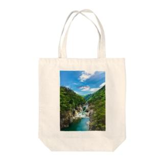 龍王峡1 Tote bags