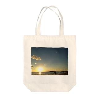 江ノ島沖に沈む夕日 Tote bags