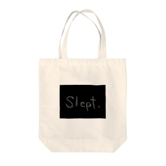slept Tote bags