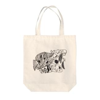 メガロドン Tote bags