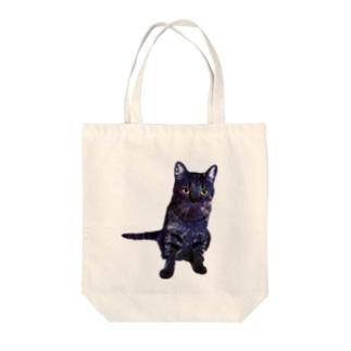 GALAXY CAT Tote bags
