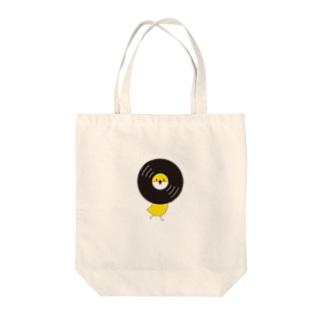 レコードリ秋の滝 -Right Walk Tote bags