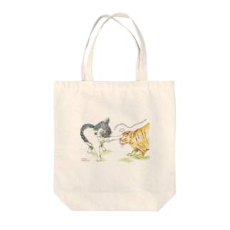 暇を持て余した猫たちの遊び Tote bags