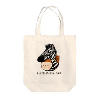 Little Zebra Girl Tote bags