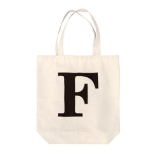 alphabet-simple:serif-F Tote bags