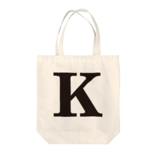 alphabet-simple:serif-K Tote bags