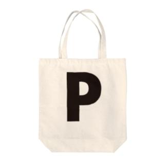 alphabet-simple:sans serif-P Tote bags