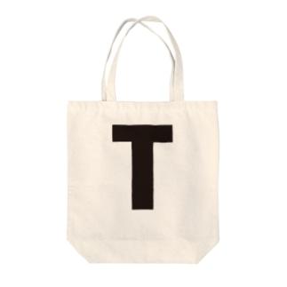 alphabet-simple:sans serif-T Tote bags