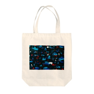 Midnight Blue Tote bags
