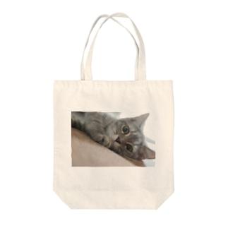 ネコのみぃちゃん1 Tote bags