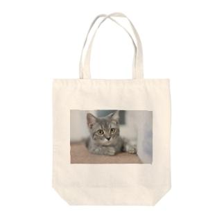 ネコのみぃちゃんグッズ5 Tote bags