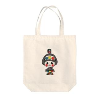 信号ちゃん Tote bags